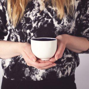 Mustikkasuu ceramic mug