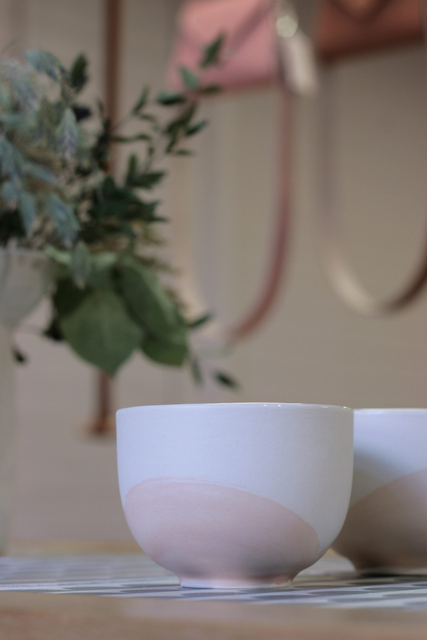 Louna cups. Partly glazed and hand-polished semi-porcelain.
